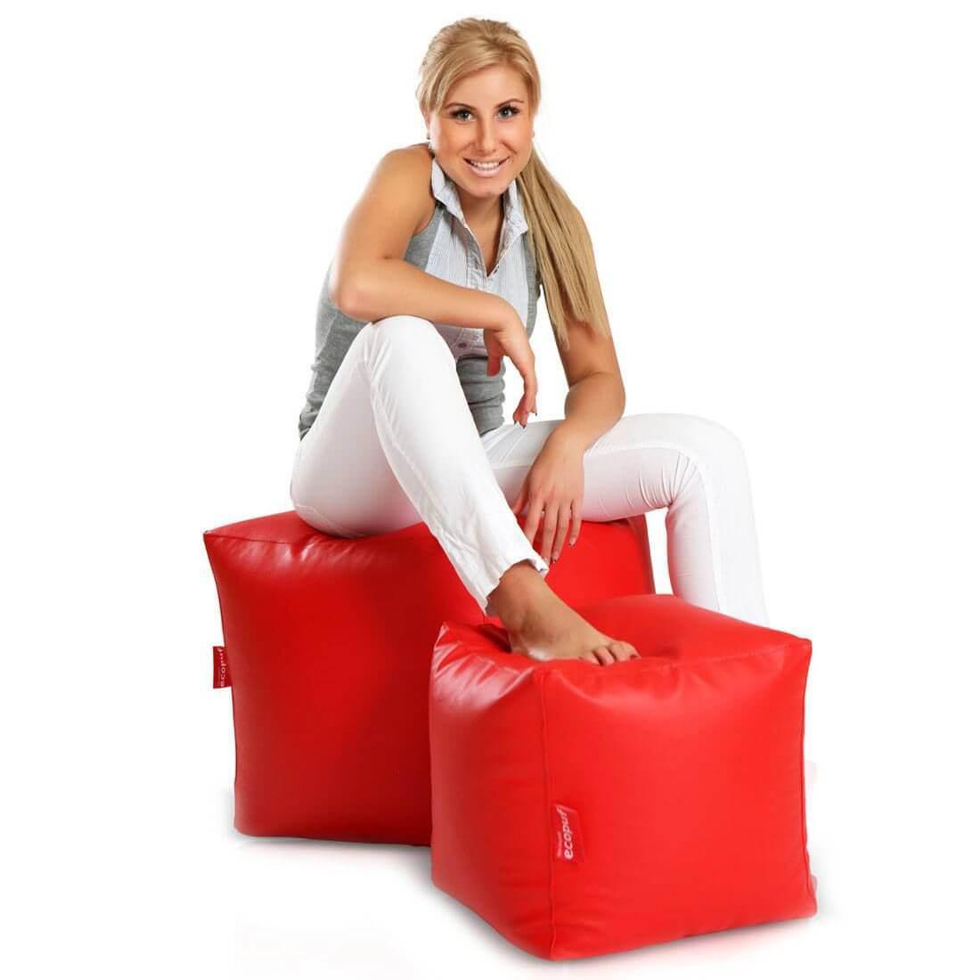 Cubes velký 50x50 cm cervena
