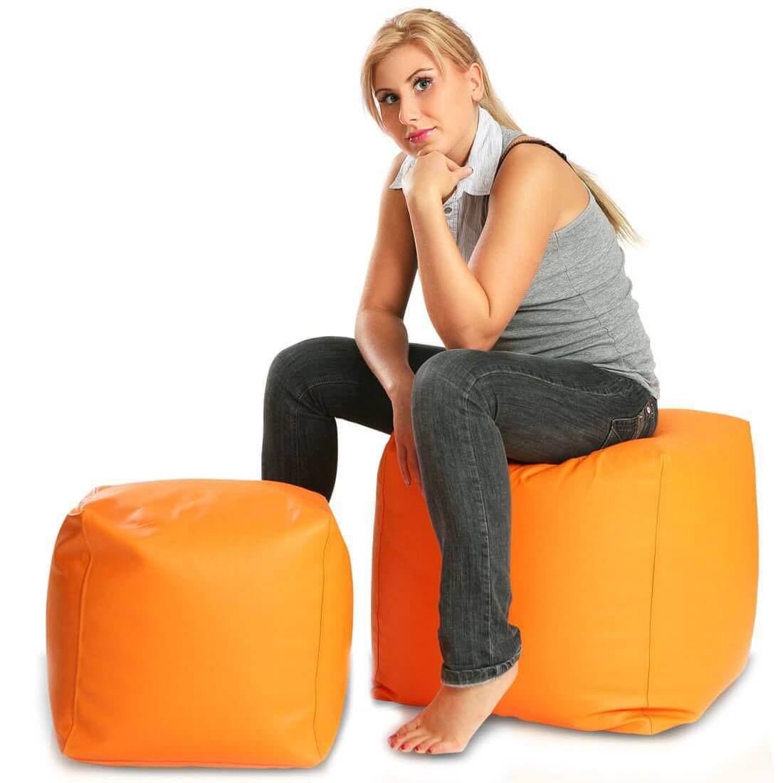 Cubes velký 50x50 cm oranzova