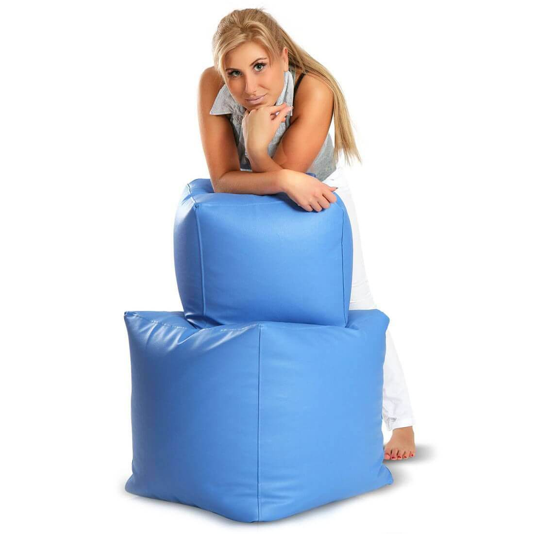 Cubes 37x37 cm modra