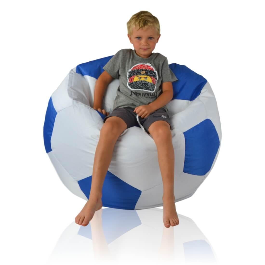 Fotbalový míč velký nylon modra