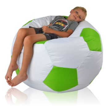 Fotbalový míč velký nylon zelena