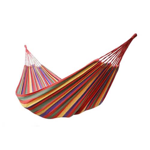 Hamaka - houpací síť cervena