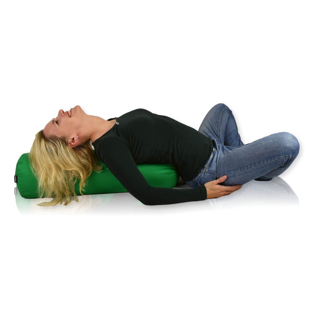 Bolster na jógu 70x20 cm zelena