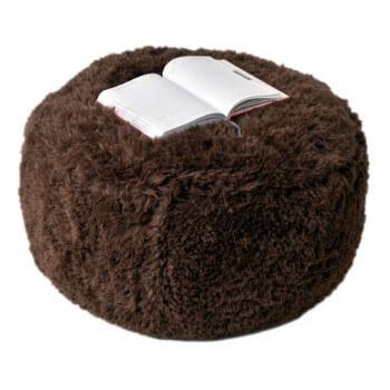 Puf Knitty Air Fluffy tmavehneda