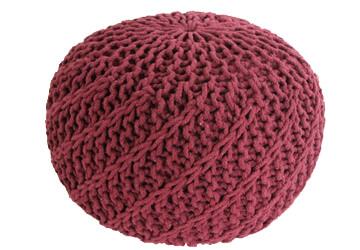 Puf Knitty Design Side bordo