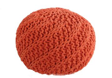 Puf Knitty Design Side oranzova