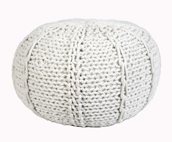 Pletený Puf Knitty Design bila