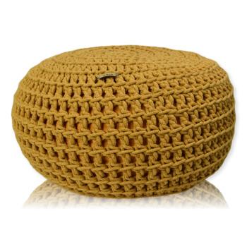 Pletený Puf Knitty Fantastic zluta