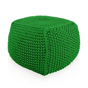 Pletený Puf Knitty Premium tyrkysova