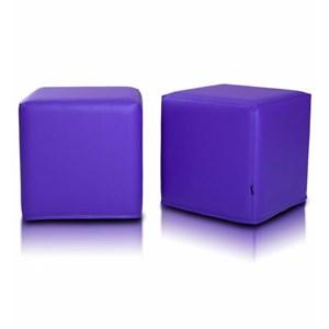 Kostka 40x40 cm fialova