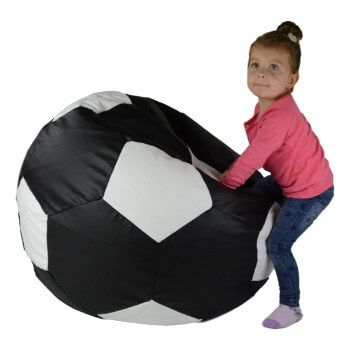 Fotbalový míč velký černý cerna
