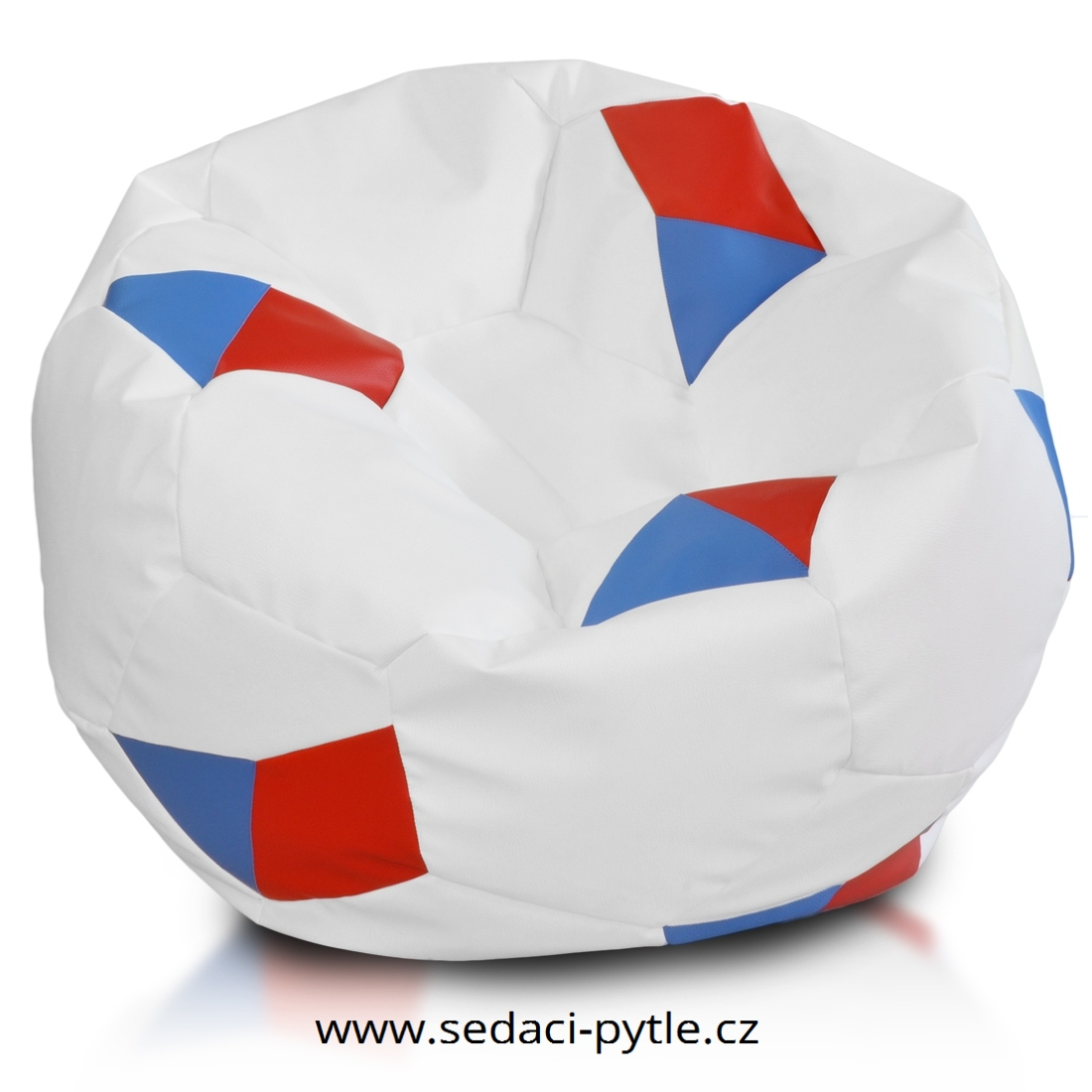 Primabag sedací vak míč FOTBAL velký s vlajkou červená