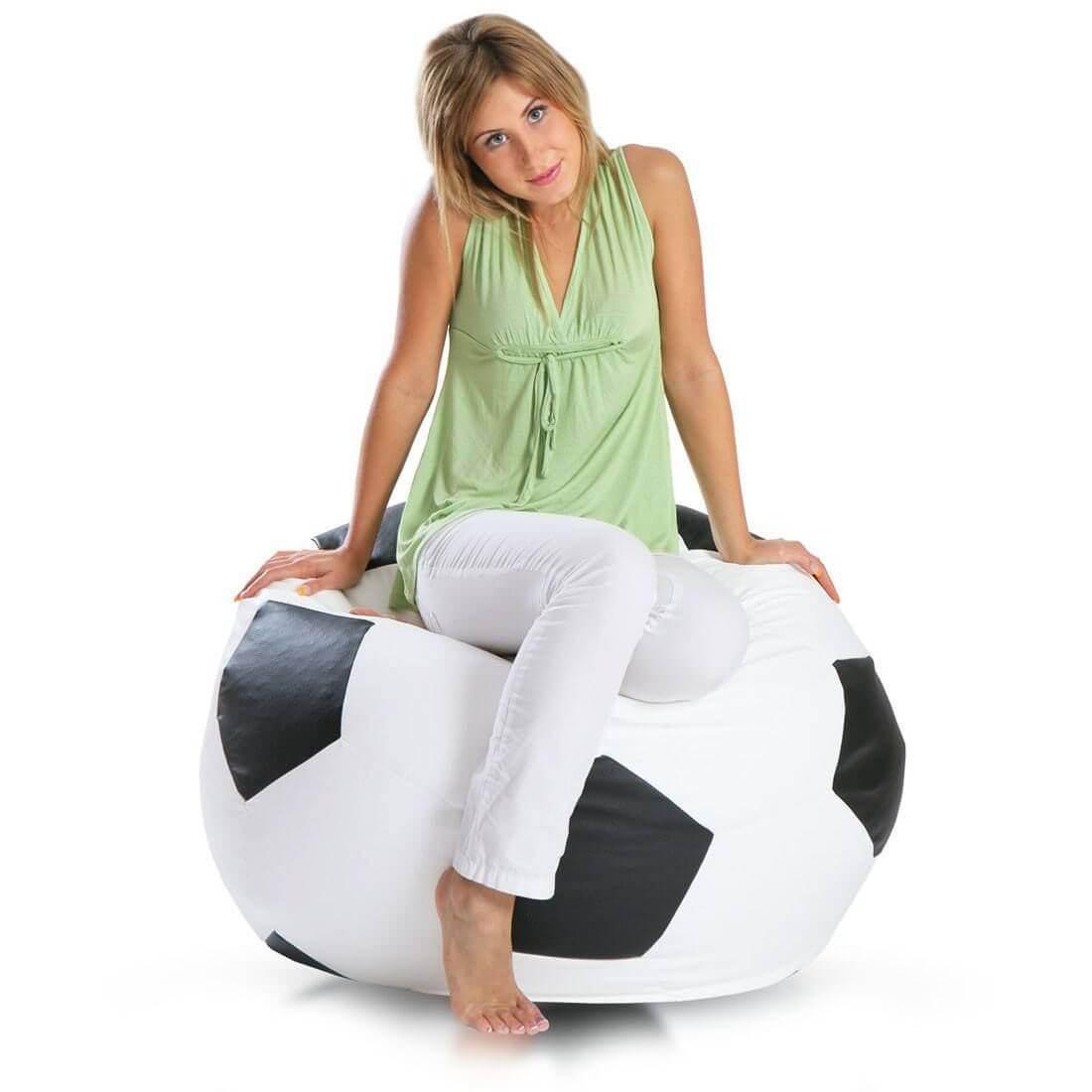 Primabag sedací vak míč FOTBAL velký černá
