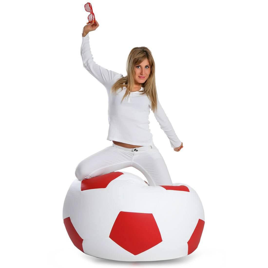 Primabag sedací vak míč FOTBAL velký červená