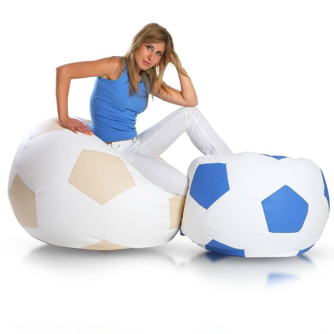 Primabag sedací vak míč FOTBAL velký modrá