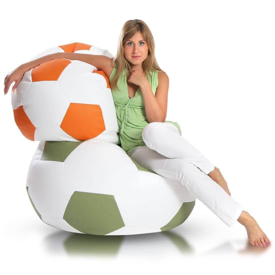 Primabag sedací vak míč FOTBAL velký olivová