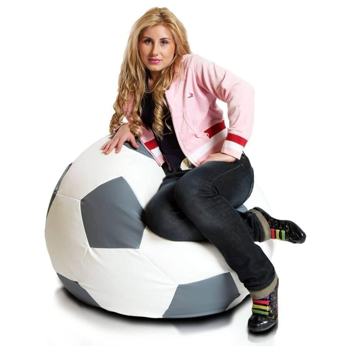 Primabag sedací vak míč FOTBAL velký šedá