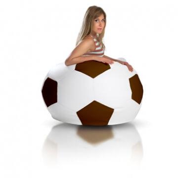 Primabag sedací vak míč FOTBAL velký světlehnědá