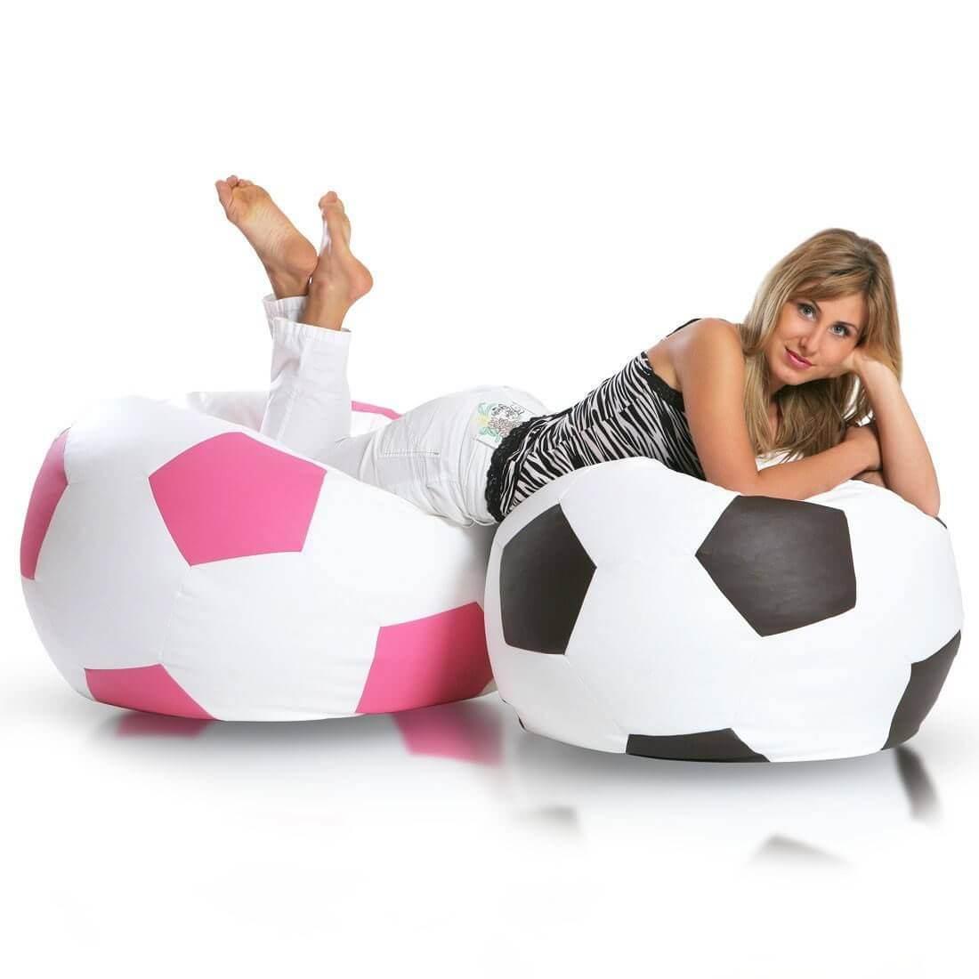 Primabag sedací vak míč FOTBAL velký tmavěhnědá