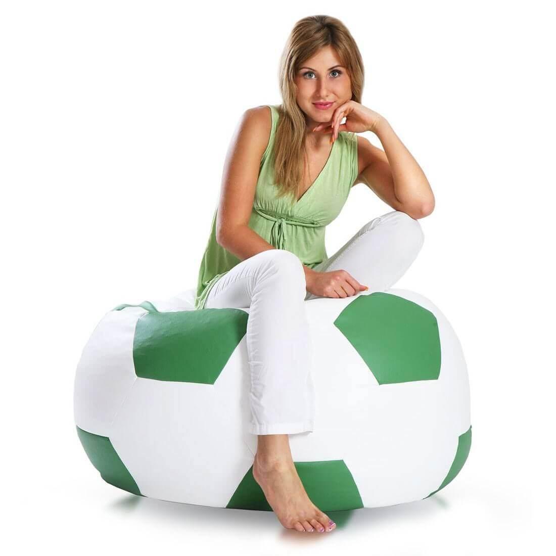 Primabag sedací vak míč FOTBAL velký zelená