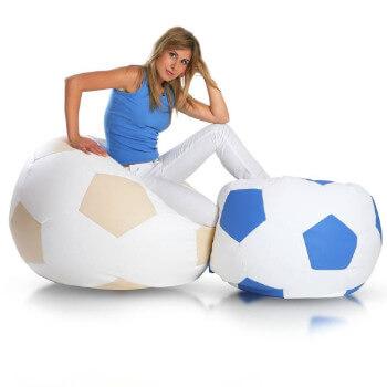 Fotbalový míč velký modra