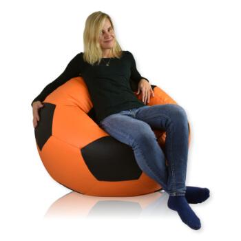 Fotbalový míč velký ekokůže oranzova_cerna
