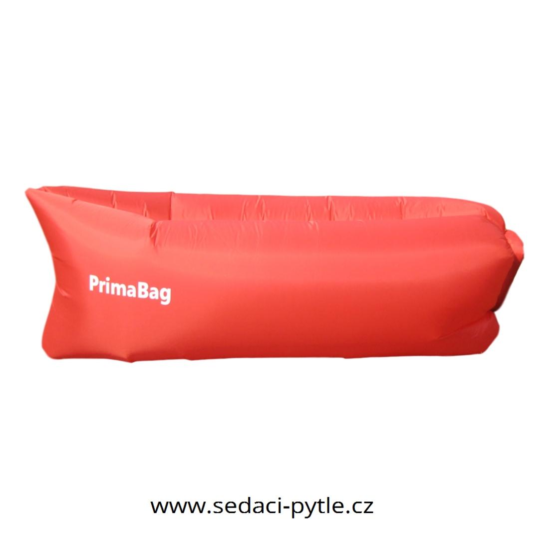 Primabag Nafukovací sedací vak červená