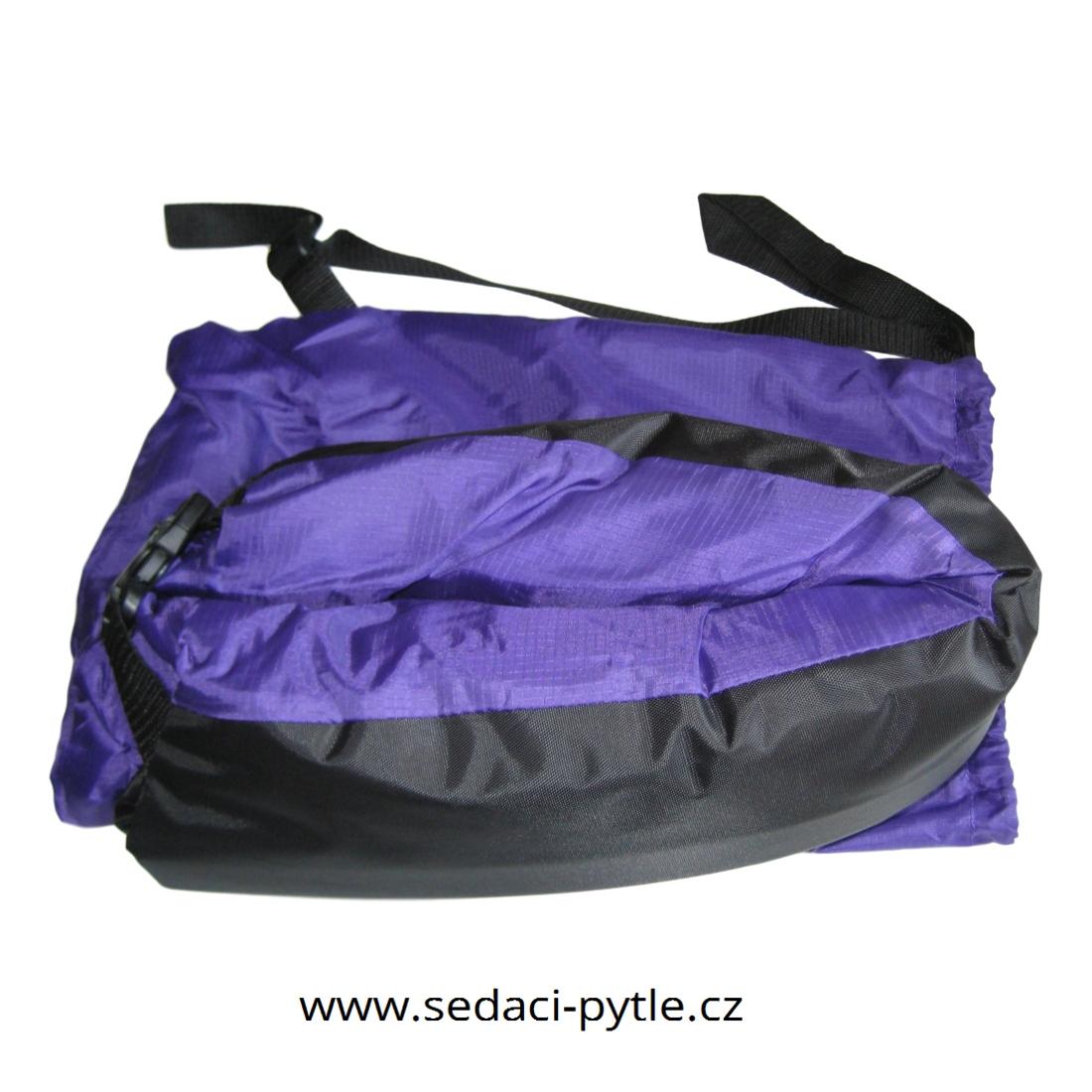 Primabag Nafukovací sedací vak fialová