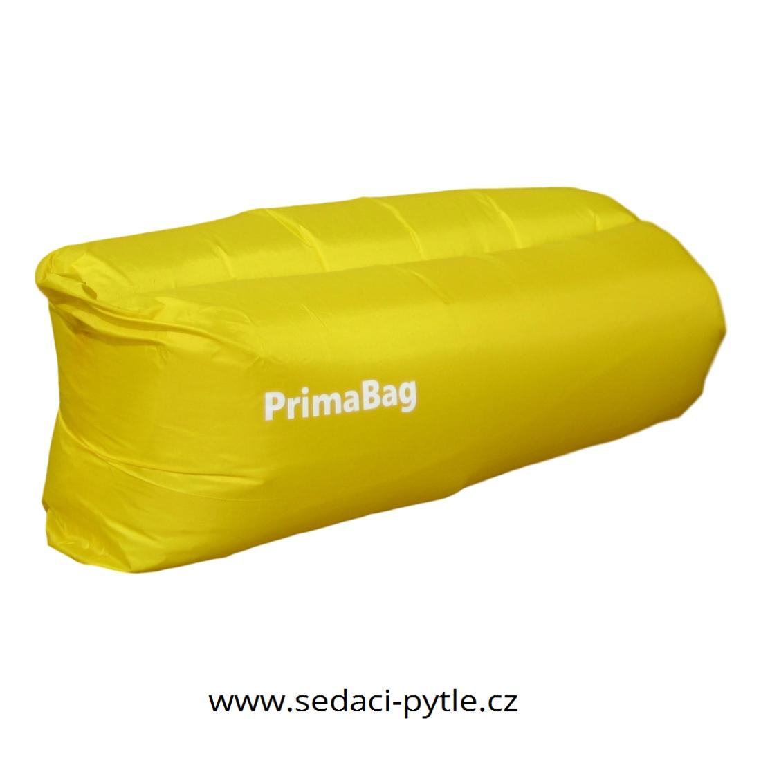 Primabag Nafukovací sedací vak žlutá
