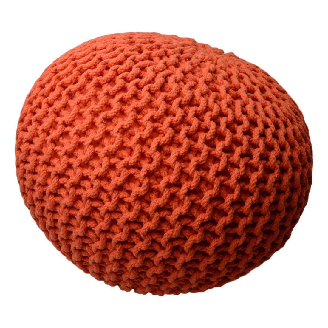 Pletený taburet - puf Knitty oranzova