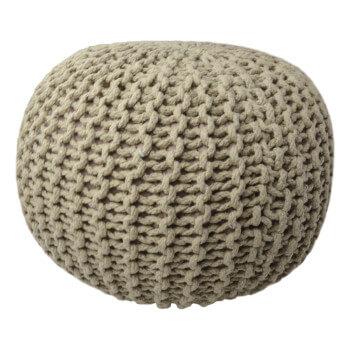 Pletený Puf Knitty cappucino