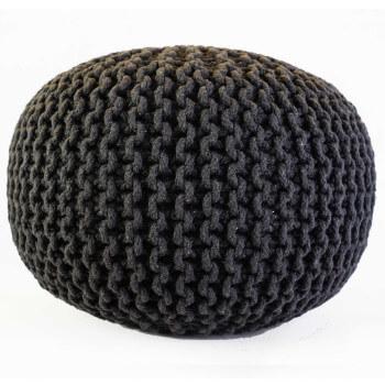Pletený Puf Knitty cerna