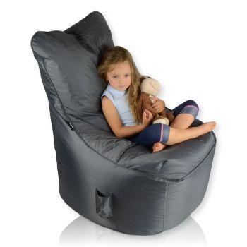 Seat nylon tmaveseda