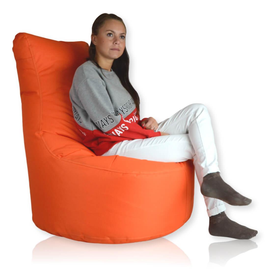 Seat polyester oranzova
