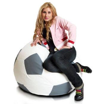 Fotbalový míč střední ekokůže seda