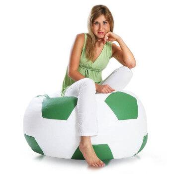 Fotbalový míč střední zelena