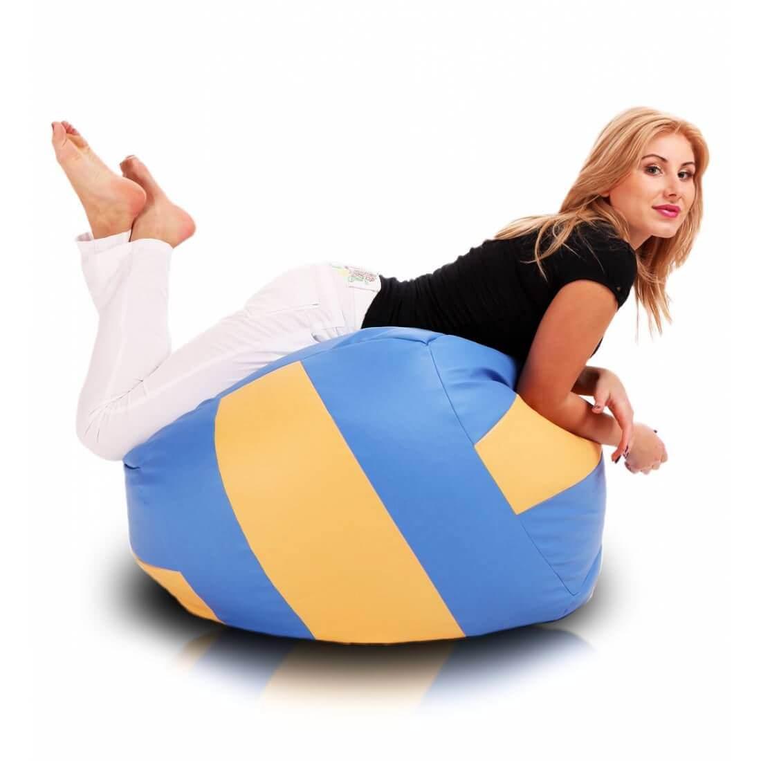 Sedací pytel Primabag Volejbalový míč modrá