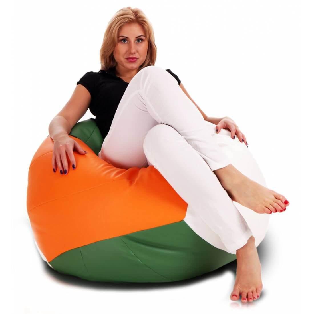 Sedací pytel Primabag Volejbalový míč oranžová