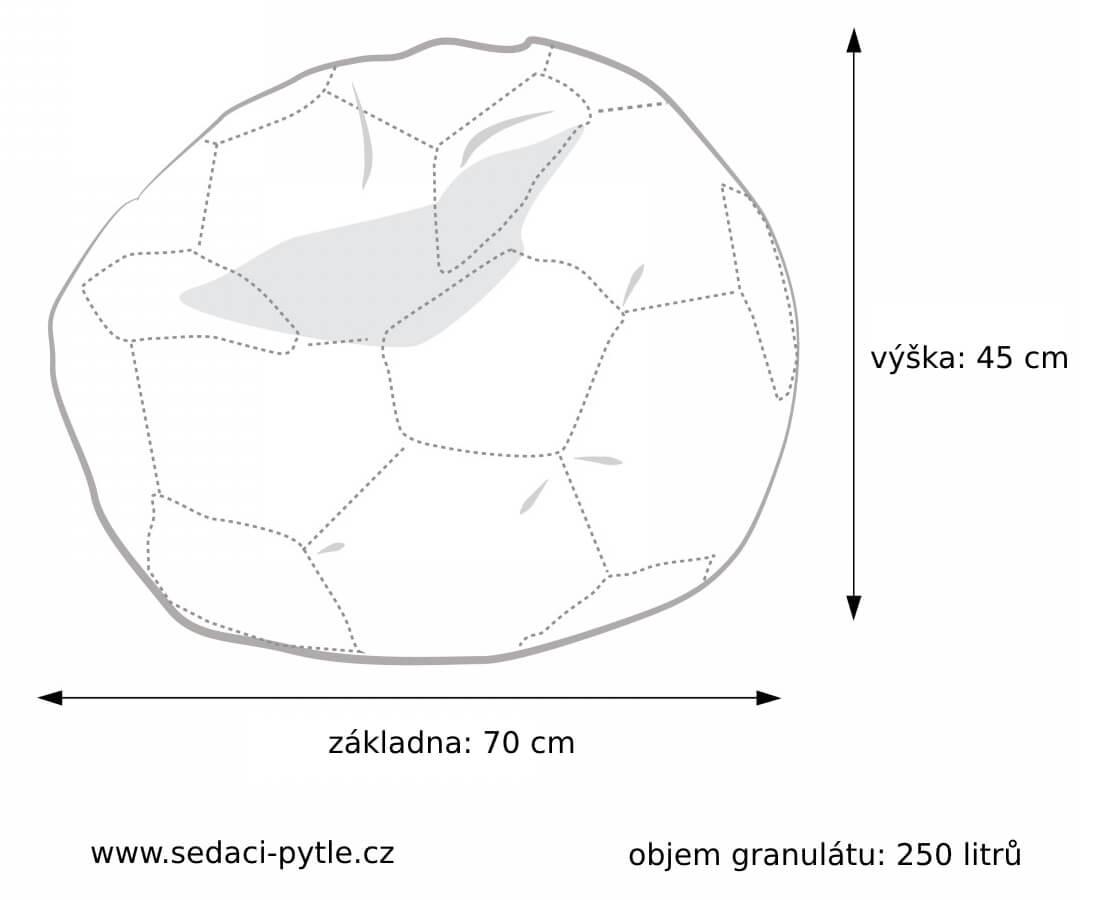 Rozměry vaku Míč nylon střední