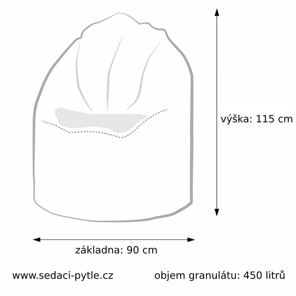 Rozměry vaku Giga Sako Design