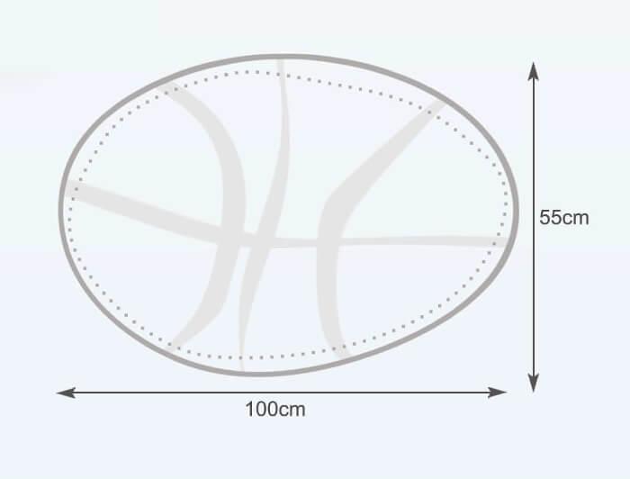 Rozměry vaku Basketbalový míč