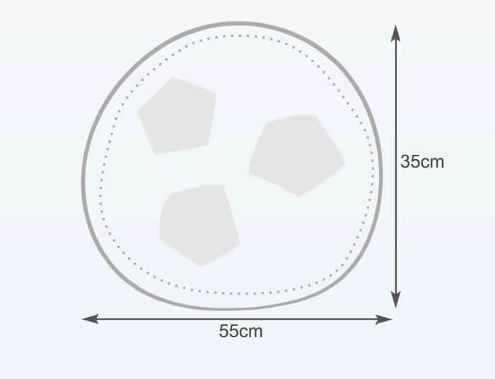 Rozměry vaku fotbalový míč malý