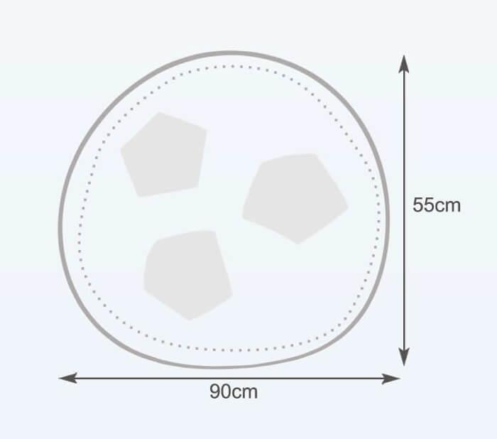 Rozměry vaku fotbalový míč velký