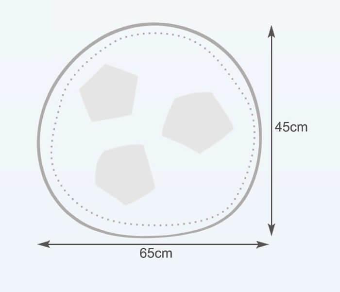 Rozměry vaku fotbalový míč střední