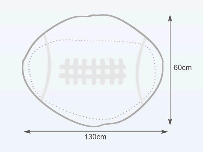 Rozměry vaku Rugby míč