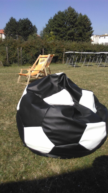 Sedací vak fotbalový míč na kraví hoře